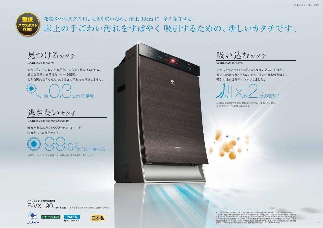 Máy Lọc Không Khí – Tạo Ẩm Nội Địa Nhật Panasonic F-VXL90
