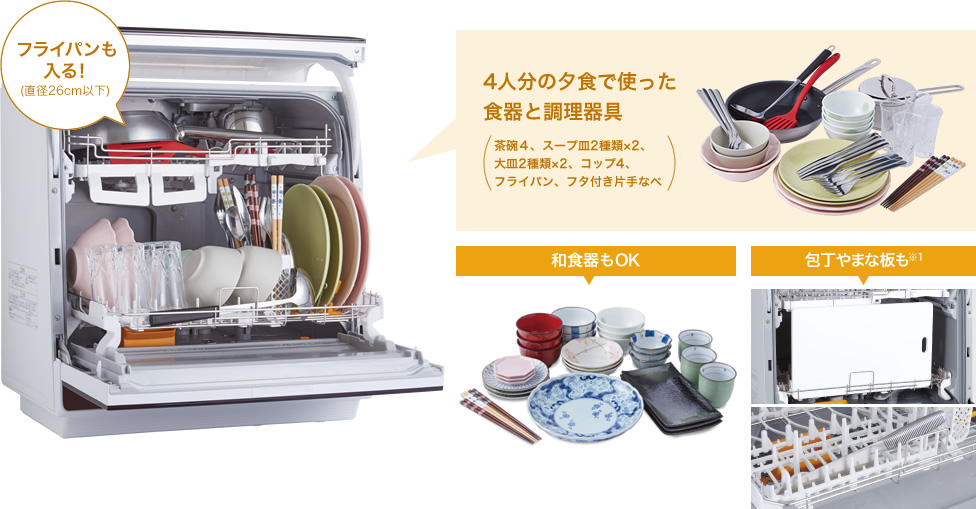 Máy Rửa Sấy Bát Để Bàn Panasonic Nội Địa Nhật NP-TR9
