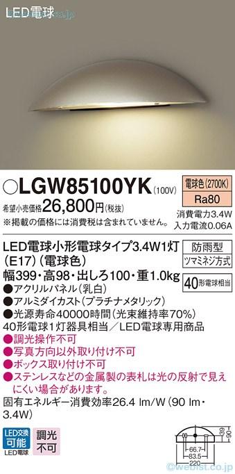 Đèn Ngoài Trời Panasonic 2