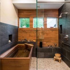 Phòng tắm mang phong cách Nhật Bản giúp thư giãn giảm stress