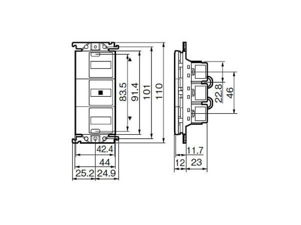 Công Tắc Điều Khiển Cửa Cuốn Panasonic WTC5497WK