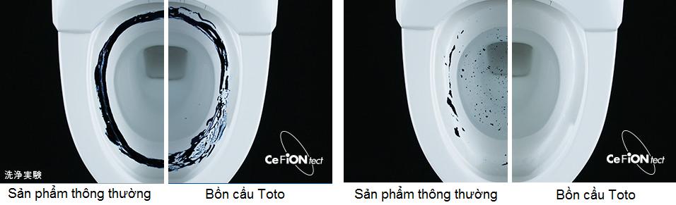 Công nghệ CeFiON giúp bồn cầu luôn sạch sẽ